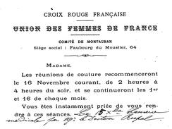 82 MONTAUBAN  Croix Rouge Française Union Des Femmes De France - Montauban