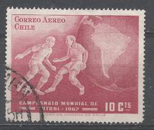 Chile 1962. Scott #C247 (U) World Soccer Championship, Chile, Players And Globe * - Chili