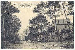 """Cpa Saint Brévin L'Océan - Avenue Centrale Près La Villa """"Chantecler""""  ( Train, Chemin De Fer )  ((S.256)) - Saint-Brevin-l'Océan"""
