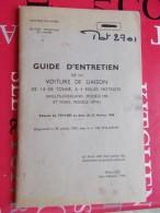 Guide D'entretien De La Voiture De Liaison De 1/4 Tonne à 4 Roues Motrices (willys Overland, Modème MB Et Ford Mod. GPW - Manuels De Réparation