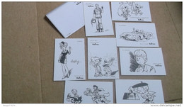 Franquin Roba Peyo Tillieux Héros Journal De Spirou Robbedoes Cartes Postales Carte Postale - Postcards