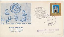 Yugoslavia Visit Of Apollo XV Mission Crew To Zagreb Illustrated Special Card & Postmark 1972 Bb161011