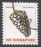 Singapore. 1977 Shells, Fish & Crustaceans. 10c Used. SG 291 - Singapore (1959-...)