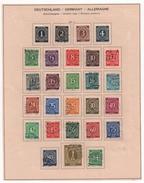 Allemagne - Zone AAS 1946. N° 1 à 27 (Y Et T) Série COMPLETE, Oblitérée. - Zone AAS