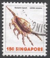 Singapore. 1977 Shells, Fish & Crustaceans. 15c Used. SG 292 - Singapore (1959-...)