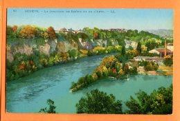 GGE390, La Jonction Du Rhône Et De L'Arve à Genève, Usine, 50, Circulée 1915 - GE Geneva