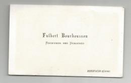 Carte De Visite Cdv Fulbert Bourbousson Receveur Des Domaines Bonifacio Corse  Vers 1880 - Cartes De Visite