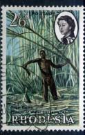 RARE 2/6 RHODESIA GB BRITAN COLONIES STAMP USED TIMBRE - Southern Rhodesia (...-1964)