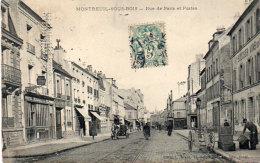 MONTREUIL SOUS BOIS - Rue De Paris Et Postes - Attelaqge - Poste (92538) - Montreuil