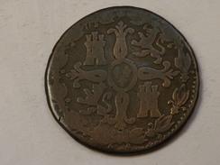 Espagne 4 MARAVEDIS 1825  Aqueduc  KM# 489.2     Grand Buste - Monnaies Provinciales