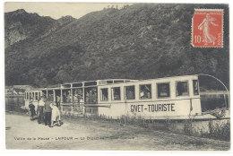 """Cpa  Vallée De La Meuse - Laifour - Le Départ Du """"Givet - Touriste""""  ( Péniche )  ((S.277)) - Givet"""
