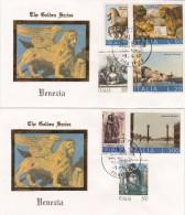 Italie - The Golden Series - VENEZIA - Yvert 1125 + Série 1133 à 1136 + 1999 Et 2000 Cachet 9/4/1993 - 6. 1946-.. Republic