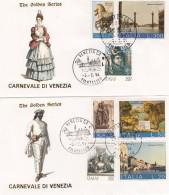 Italie - The Golden Series - CARNEVALE Di VENEZIA - Yvert 1125 + Série 1133 à 1136 + 1999 Et 2000 Cachet 5/2/1994 - 1946-.. République