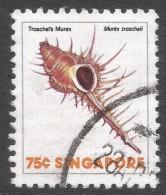 Singapore. 1977 Shells, Fish & Crustaceans. 75c Used. SG 297 - Singapore (1959-...)
