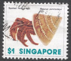 Singapore. 1977 Shells, Fish & Crustaceans. $1 Used. SG 298 - Singapore (1959-...)