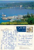 Ferry Terminal, Perth, Western Australia, Australia Postcard Posted 1988 Stamp - Perth