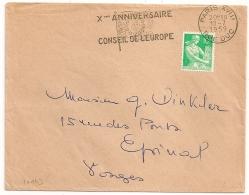 Tarif Imprimés, PARIS XVIII RUE DUC Sur Enveloppe à 10F. 1959. - Oblitérations Mécaniques (flammes)