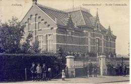 Zeelhem Zelem Halen Gemeenteschool  1914 Veel Volk - Halen