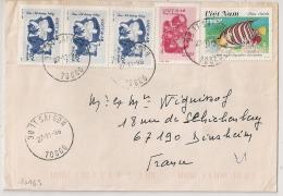 COVER VIET NAM SAIGON TO FRANCE. - Viêt-Nam