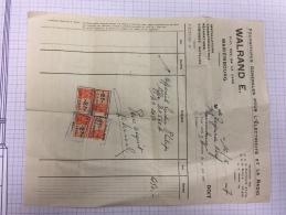 16W/1 - Facture Achat Radio Récepteur Philips Type BX 560 A 1947 Mariembourg - Factures & Documents Commerciaux
