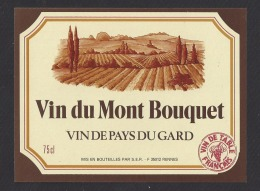 Etiquette De Vin De Pays Du Gard  -  Vin Du Mont Bouquet  -  SER  à  Rennes   (35) - Unclassified