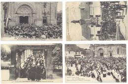 4 Cpa Sainte Anne D'Auray - Basilique, , évêque, Pèlerins, Pardons   ((S.308)) - Sainte Anne D'Auray