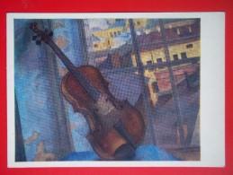 7729 Russian Art. K.Petrov-Vodkin. Violin - Pintura & Cuadros