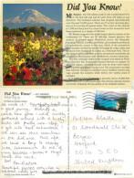 Did You Know?, Mt Rainier, Washington, United States US Postcard Posted 2008 Stamp - United States