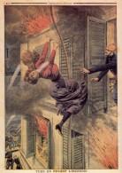 LE PETIT JOURNAL : SUPPLÉMENT ILLUSTRÉ N° 160 - Tuée En Fuyant L'incendie. - 1850 - 1899
