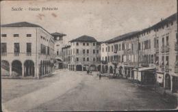 ITALY 1917. Deutsche Feldpost. Brief Stempel Pionier (Mineur) Kompany. Viewcard: Sacile Piazza Plebiscite. Must LOOK! - Otras Ciudades