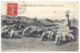 Cpa Joué Du Plain - La Croix De Livardon ( Moutons, Berger )    ((S.327)) - France