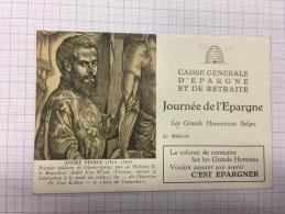16W/1 - Caisse D'épargne Série Les Grands Humanistes André Vesale - Buvards, Protège-cahiers Illustrés