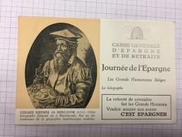 16W/1 - Caisse D´épargne Série Les Grands Humanistes Mercator - Buvards, Protège-cahiers Illustrés