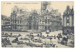 Cpa Arras - Le Marché De La Place De La Vacquerie    ((S.330)) - Arras