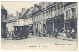 Cpa Frévent -  Rue D'Hesdin  ( Autobus )    ((S.332)) - France