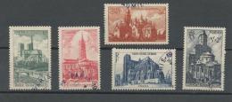 FRANCE -  CATHEDRALES ET BASILIQUES - N° Yvert 772/776 Obli.