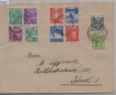 1936 Paysages Mischfrankatur - Stempel: Zürich 195/271 196/272 198/274 200/276 202/298 203/299 205/301 208/304 - Brieven En Documenten