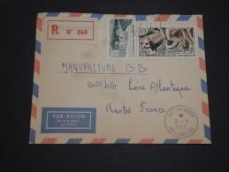 MADAGASCAR - Enveloppe En Recommandé De Vatomandry Pour La France En 1963 , Affranchissement Plaisant  - A Voir - L 4846 - Madagascar (1960-...)