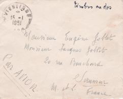 Lettre D'indochine De Vientiane 16/01/1951 TP N*233 X 2 +233 PA - Briefe U. Dokumente