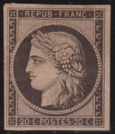 France   .   Yvert  3b      .     (*)         .         Peu De Gomme