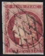 France   .   Yvert    6    .         O         .       Oblitéré