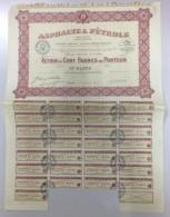 ACTION DE 100 FRANCS ASPHALTES ET PETROLE - Pétrole
