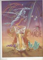 Pub 1950 Parfum MAGIE De LANCOME Dessin Signé WALLACE . - Publicités