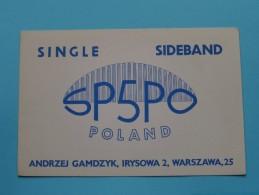 POLAND ( SP5PO ) Andrzej Gamdzyk Warszawa 25 - CB Radio - 1961 ( Zie Foto Voor Details ) - Radio Amateur