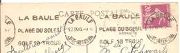 "1935  La Baule ""Golf 18 Trous..."" Flamme Postale"