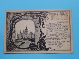 POLAND ( SP8-528 ) Lublin - Warsaw Ted / Czechoslovakia - CB Radio - 1956 ( Zie Foto Voor Details ) - Radio Amateur