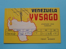 VENEZUELA ( YV5AGD ) Caracas Tony Gomez - CB Radio - 1964 ( Zie Foto Voor Details ) - Radio Amateur
