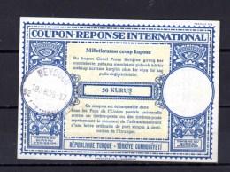 1958   Coupon-réponse International, Turquie - Otros