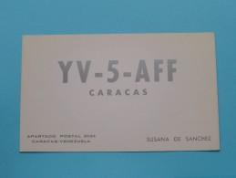 VENEZUELA ( YV-5-AFF ) Caracas Susana De Sanchez - CB Radio - 1959 ( Zie Foto Voor Details ) - Radio Amateur