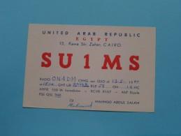 United Arab Republic EGYPT Cairo ( SU 1 MS ) Mahmud Abdul Salam / CB Radio - 1960 ( Zie Foto Voor Details ) - Radio Amateur
